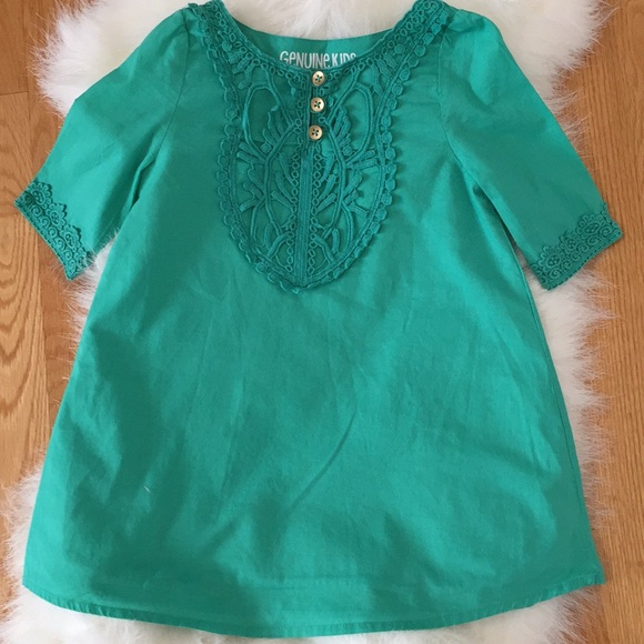 f9fe31ea9b1 Oshkosh Genuine Kids Green Dress Size 2T. M 5a86334e50687c172023e6d8